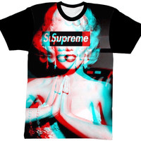 MARILYN MONROE SHIRT BLACK SLEEVE