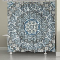 Ice Mandala Shower Curtain