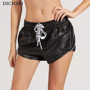 DICHSKI Quick drying yoga lace-up shorts light breathable running fitness Athletic cool Women Gym Exercise short Clothes Jogging