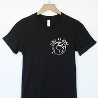 I Love My Home Earth Shirt in Black