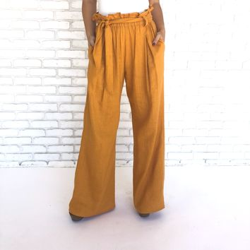 Sunflower Wide Leg Linen Pants