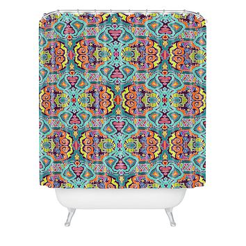 Sharon Turner Ikat Doodle Shower Curtain