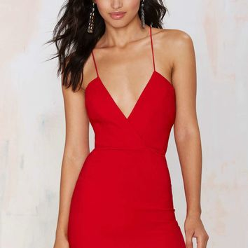 Billie Crossover Bodycon Dress - Red