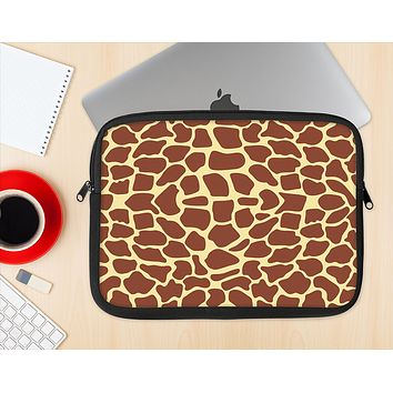 The Simple Vector Giraffe Print Ink-Fuzed NeoPrene MacBook Laptop Sleeve