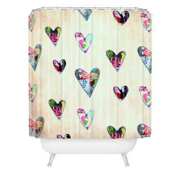 Natalie Baca Queen Of Hearts Shower Curtain