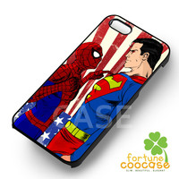 superman spiderman versus-1naa for iPhone 4/4S/5/5S/5C/6/ 6+,samsung S3/S4/S5,S6 Regular,S6 edge,samsung note 3/4