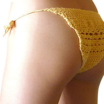 Crochet underwear women's handmade cotton panties