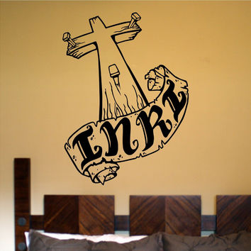 Cross Version 101 Vinyl Wall Decal Sticker Art Graphic Christian Church Jesus