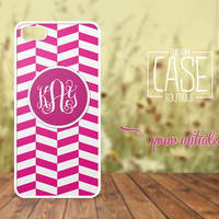 Personalized case for iPhone 5 and iPhone 4 / 4s - Plastic iPhone case - Rubber iPhone case - Monogram iPhone case - CB001