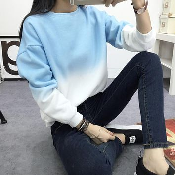 Pastel Ombre Long Sleeve Sweatshirt