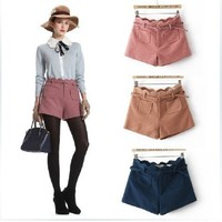 Autumn&Winter New Wavy Edge High-waist Woolen Shorts,Cheap in Wendybox.com