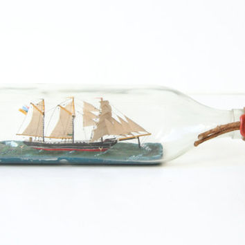 $45.00 Ship in Bottle by nbdg on Etsy