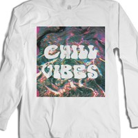 Chill Vibes-Unisex White T-Shirt