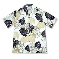 surfers cream hawaiian rayon shirt