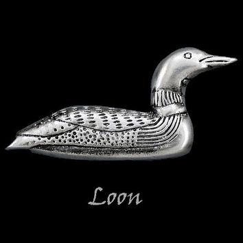 Loon Pin in Pewter by Frederick Design