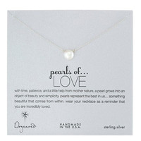 Dogeared Large Pearls of Love White Pearl Necklace, Sterling Silver 18 inch