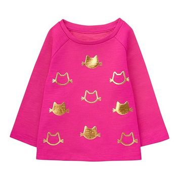 Pink Cat Foil-Patch Sweater - Infant & Toddler
