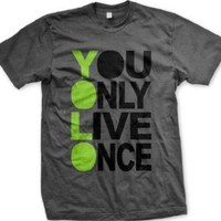 Amazon.com: You Only Live Once, YOLO Mens T-shirt, Hot Trendy Lyrics Oversized Y.O.L.O. Design YOLO Men's Tee Shirt: Clothing