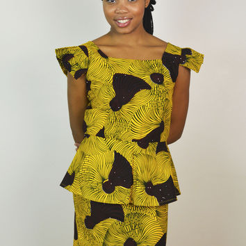 Be cool Office wear made with African wax