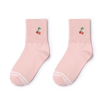 Cherry Icon Sock