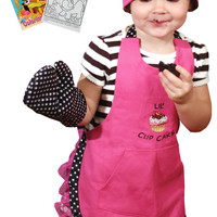 Manual Woodworkers Lil' Cupcake Apron, Oven Mitt, Chef Hat + Activity Book