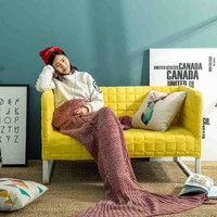 Mermaid Sofa Handcrafts Blanket +a necklace gift [6284138630]