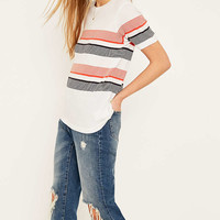 Urban Outfitters White Striped T-shirt - Urban Outfitters