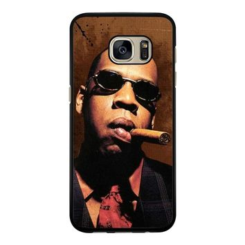 Jay-Z Cigar Glasses Tie Vest 01  Samsung Galaxy S7 Case
