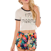 Under The Sea Pom Pom Shorts