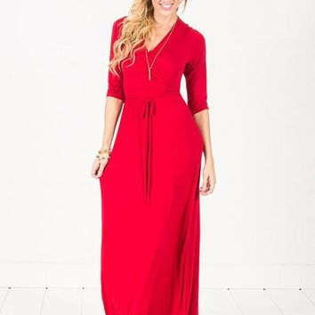 Modal Wrap Maxi Dress ~ 2 colors