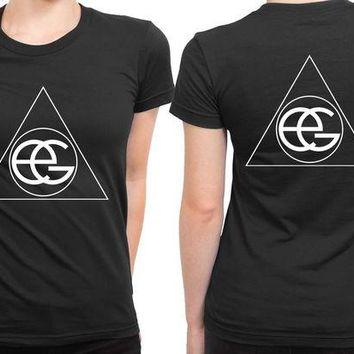 DCCKL83 Ellie Goulding Classic Logo 2 Sided Womens T Shirt