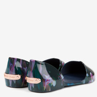 Fuschsia Floral jelly pumps - Dark Blue | Shoes | Ted Baker