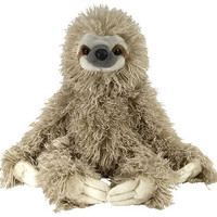 "stuffed animal plush 12"" THREE TOED SLOTH cuddlekins CK"