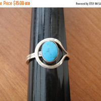 SALE Taxco Mexico Sterling Ring signed 925 Mexico TO-15 vintage