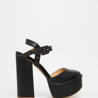 Truffle Collection | Truffle Collection Platform Ankle Strap Heeled Sandals at ASOS