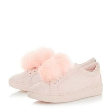 DUNE LADIES EXAMPLE - Removable Pom Pom Trainer - pale pink | Dune Shoes Online