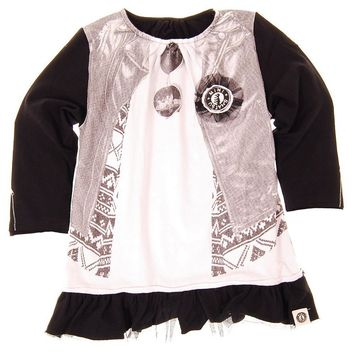 Sunglasses & Leather Baby Tunic by: Mini Shatsu
