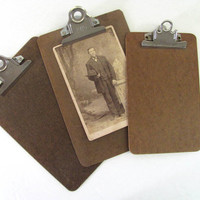 3 clipboards // picture clip board wall hangings