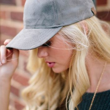 Out of Your League Grey Suede Hat