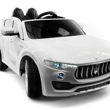 Maserati Levante 12V Kids Ride-On Car with R/C Parental Remote | White