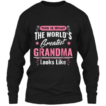 What World's Greatest Grandma Looks Like Mothers Day  LS Ultra Cotton Tshirt