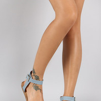 Shoe Republic LA Denim Flat Sandal*