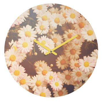 Bree Madden Faded Daisy Round Clock