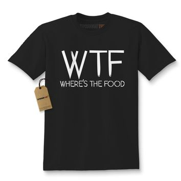 WTF Where's The Food Kids T-shirt