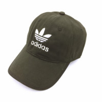 Trendy Army Green Adidas Embroidery Baseball Cap Hats