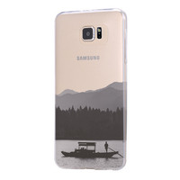 Landscape Boat River Cruise Samsung Galaxy S6 Edge Clear Case Galaxy S6 Transparent Case Samsung S5 Hard Cover C0001