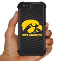 University of Iowa - iPhone 5 BruteBoxTM Case - #7 (Tiger Hawk Iowa Hawkeyes Black) - 2 Part Rubber and Plastic Protective Case