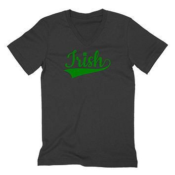 Irish, Irish girl, St Patrick's Day, Irish yoga, Lucky charm, lucky, funny clover  V Neck T Shirt