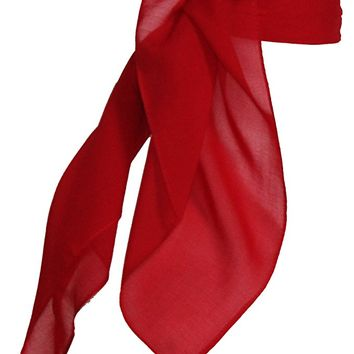 Sheer Chiffon Scarf Vintage Style Accessory for Women and Children