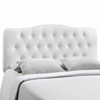 Annabel King Vinyl Headboard White